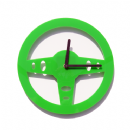 Drive - Steering Wheel Wall Clock - Green